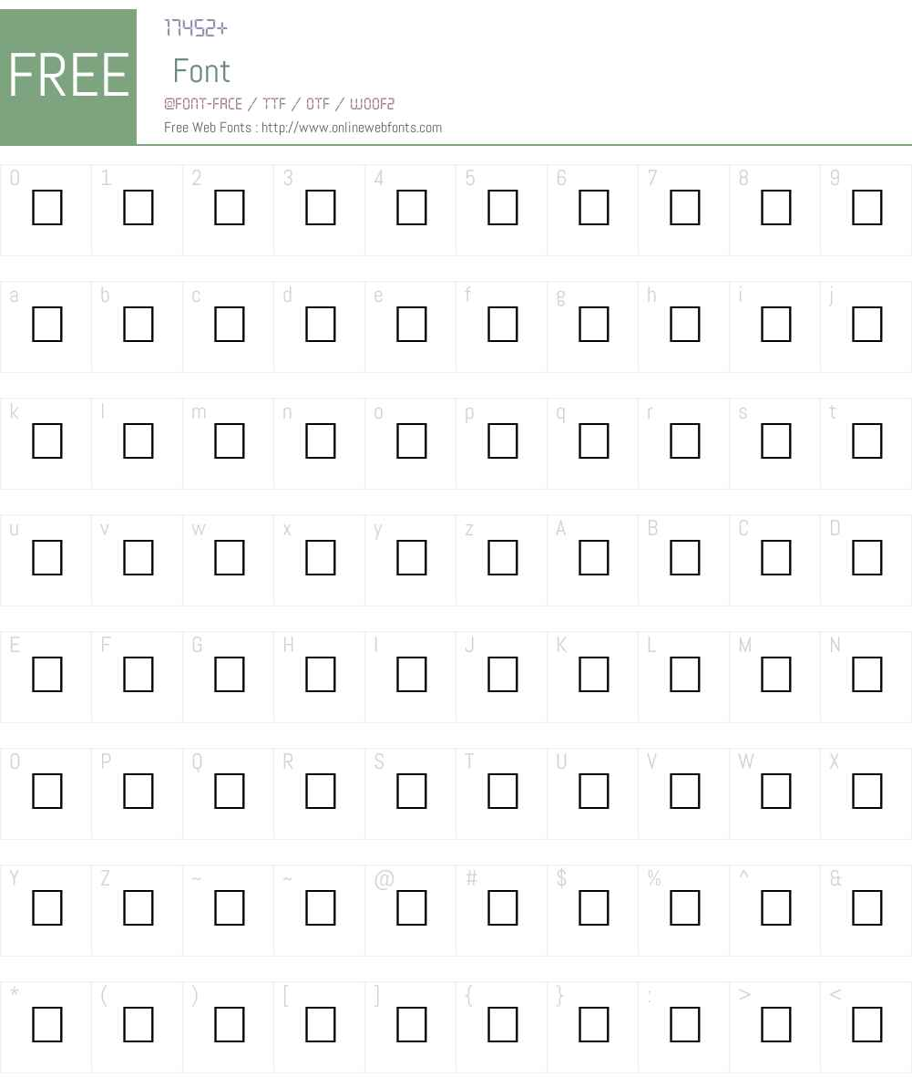 MEAD Font Screenshots