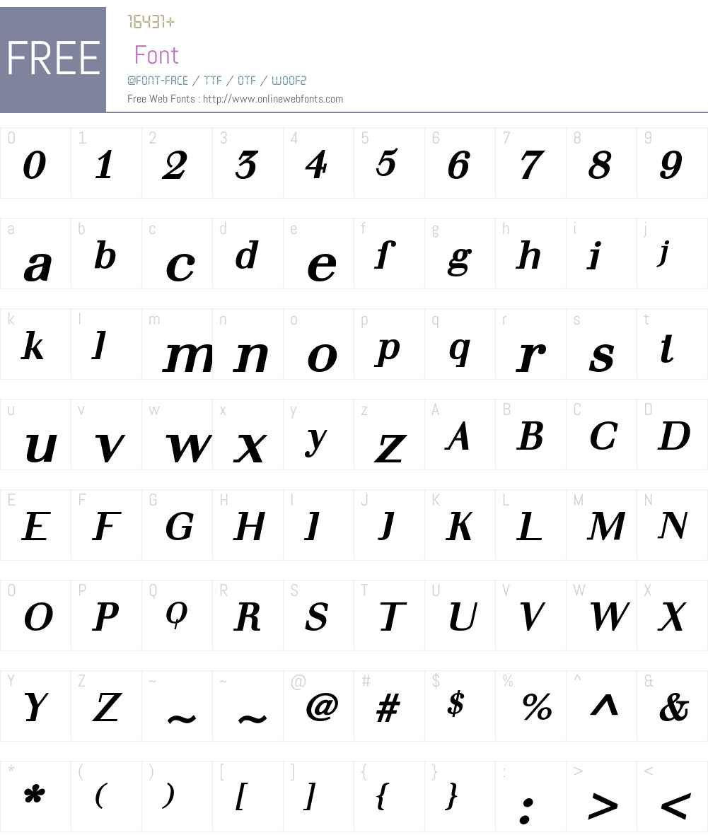 Seriar Font Screenshots