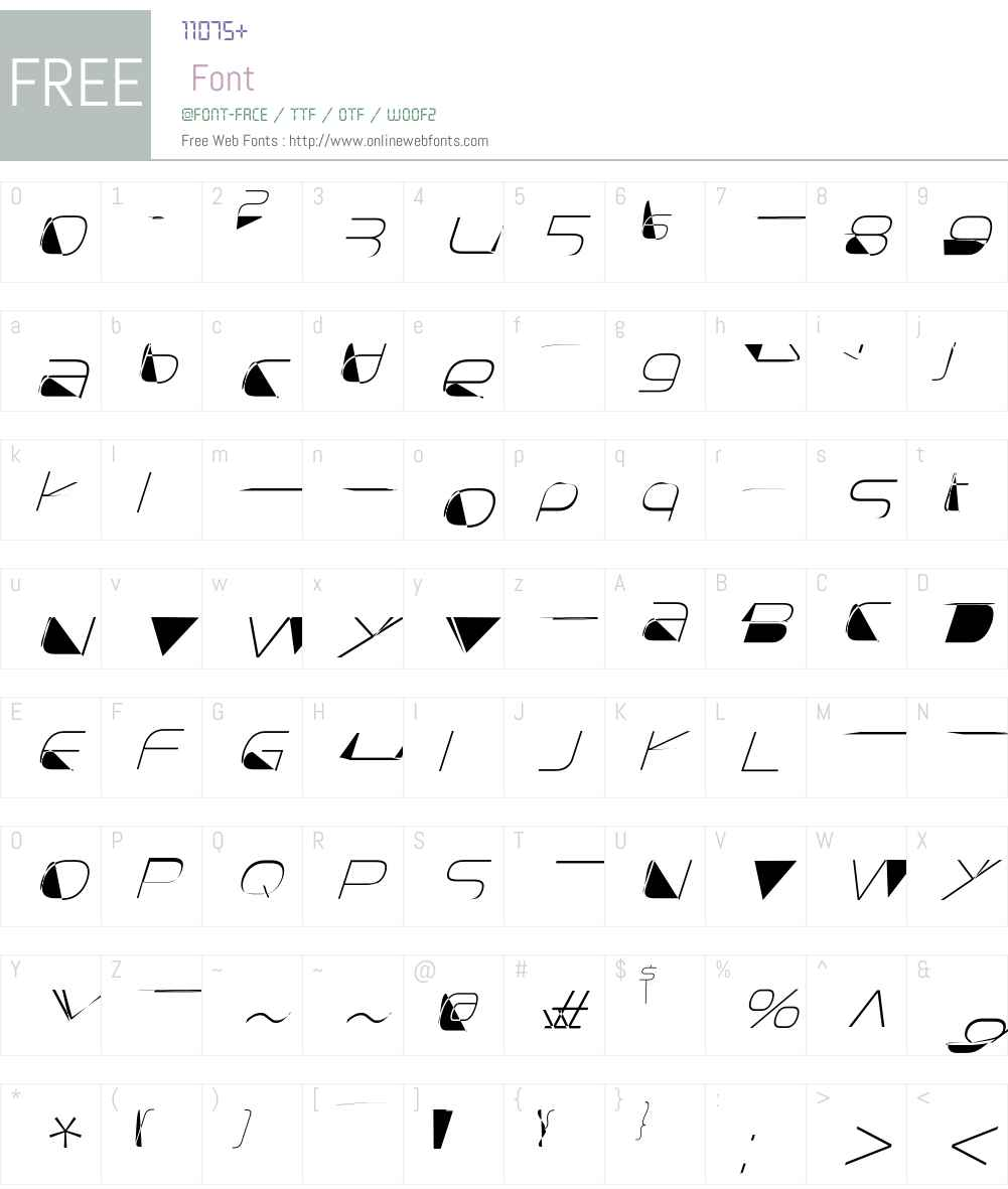SnasmW00-ExtraLightItalic Font Screenshots