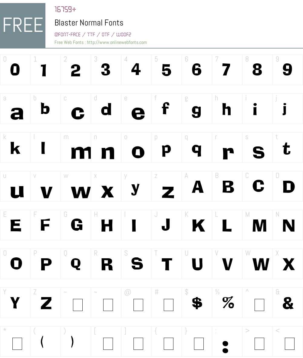 Blaster Font Screenshots