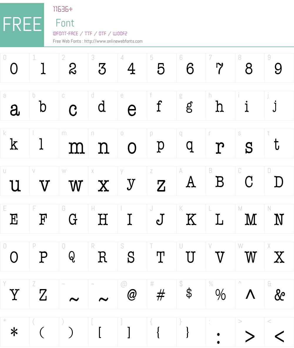Memo Condensed Font Screenshots