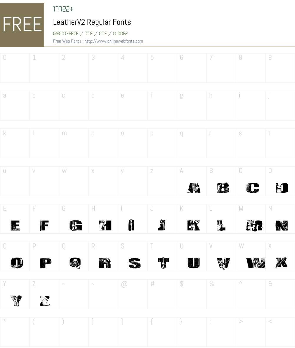 LeatherV2 Font Screenshots