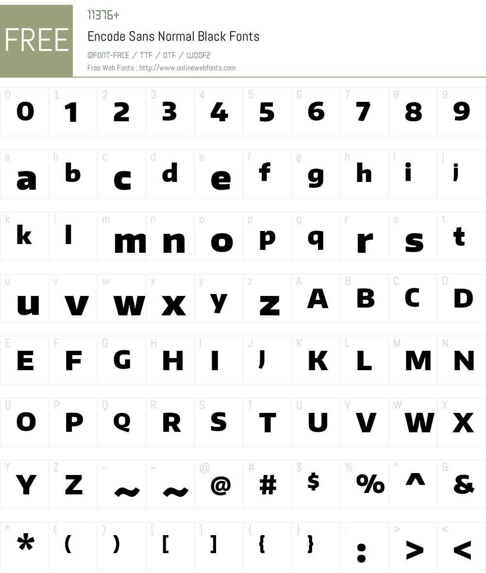 Encode Sans Normal Font Screenshots