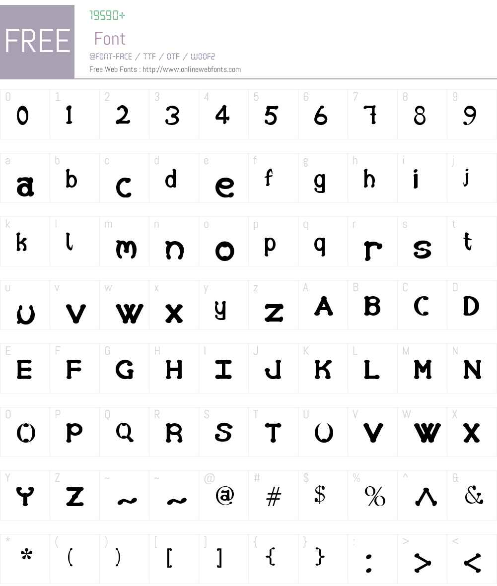 Hand Font Screenshots