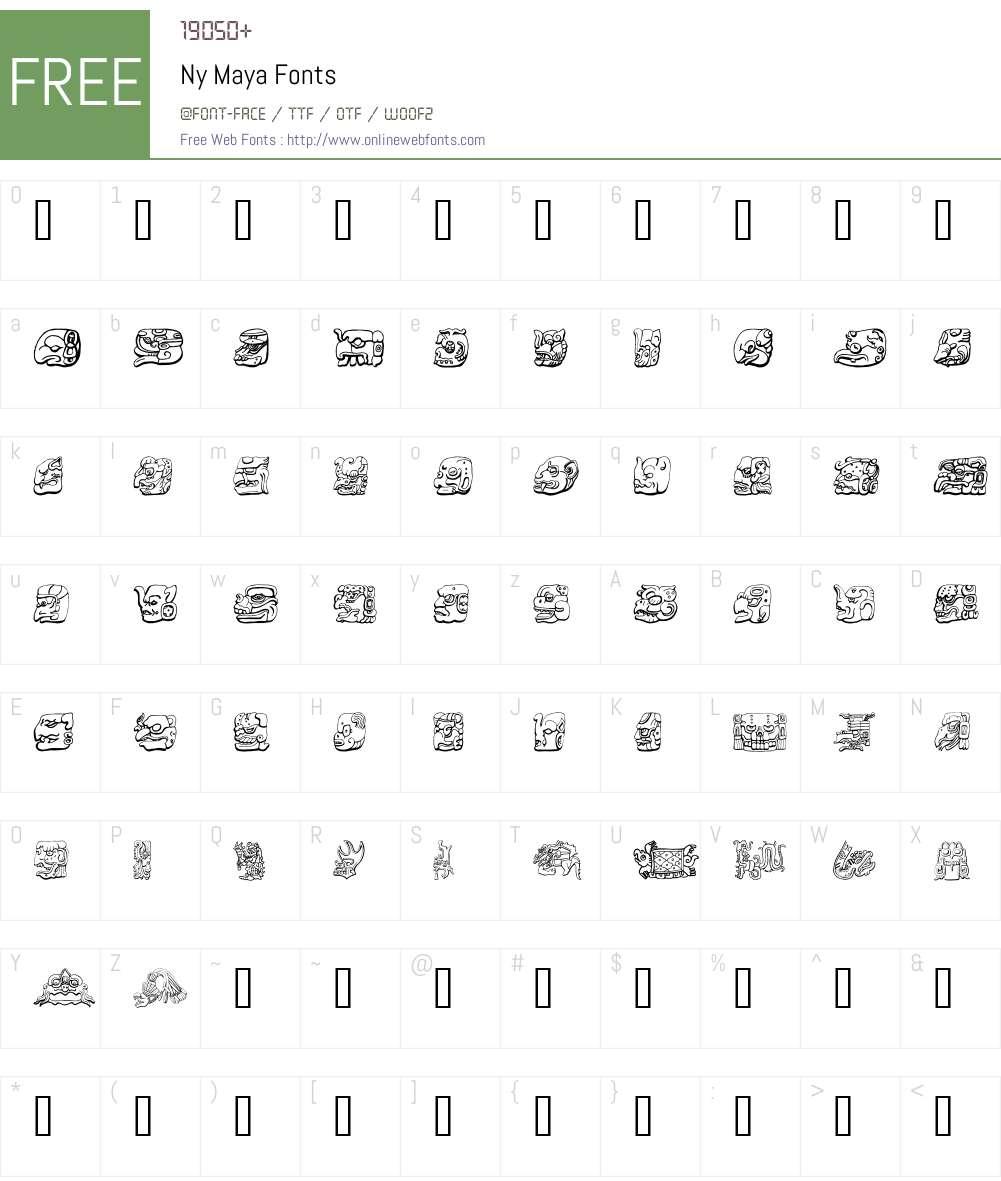 Ny Maya Font Screenshots