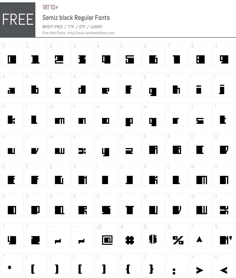 Semiz black Font Screenshots