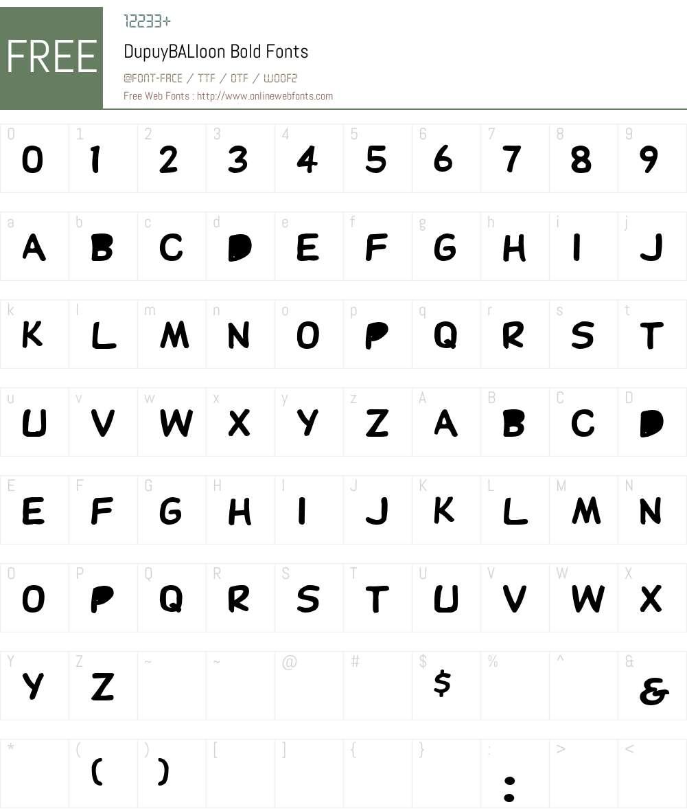 DupuyBALloon Font Screenshots