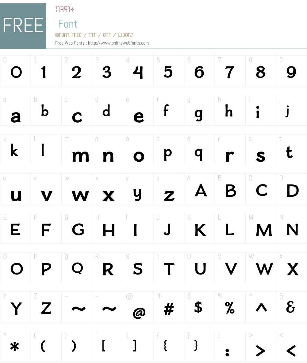 BoucherieFlaredW01-Bold Font Screenshots