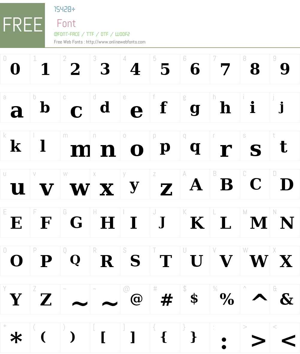 Bitstream Vera Serif Font Screenshots