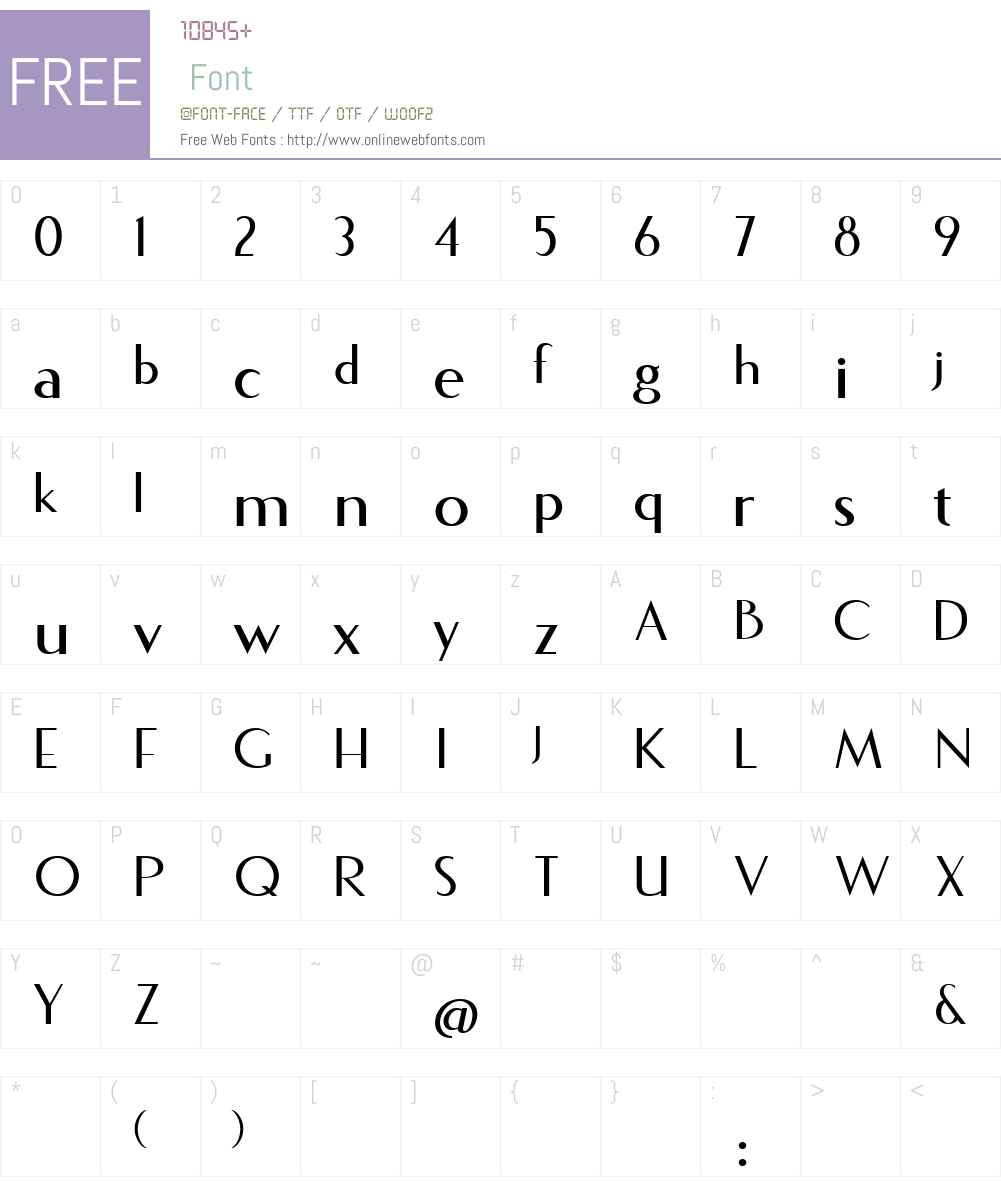 Fecske Font Screenshots