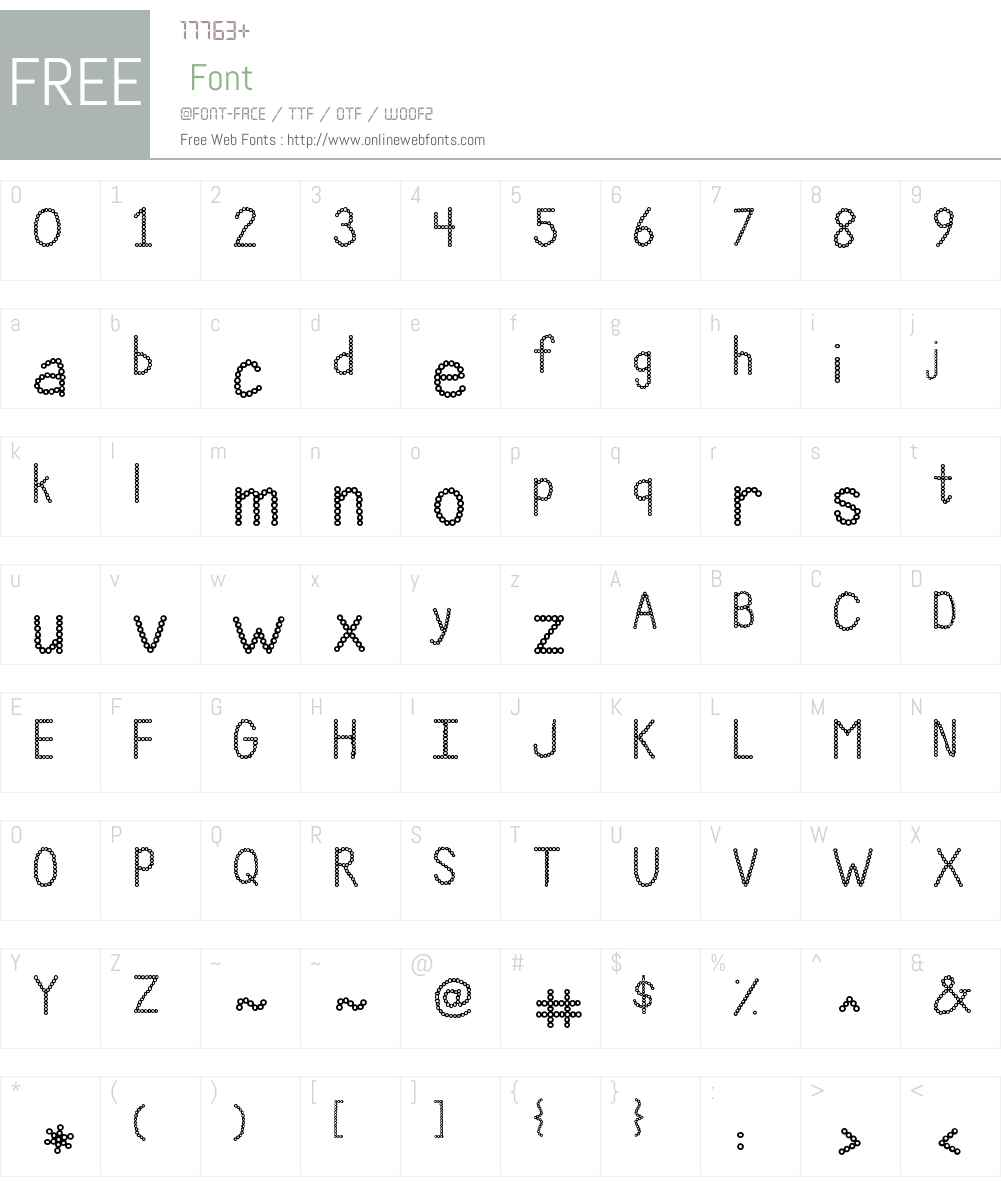 Janda Polkadot Punch Font Screenshots
