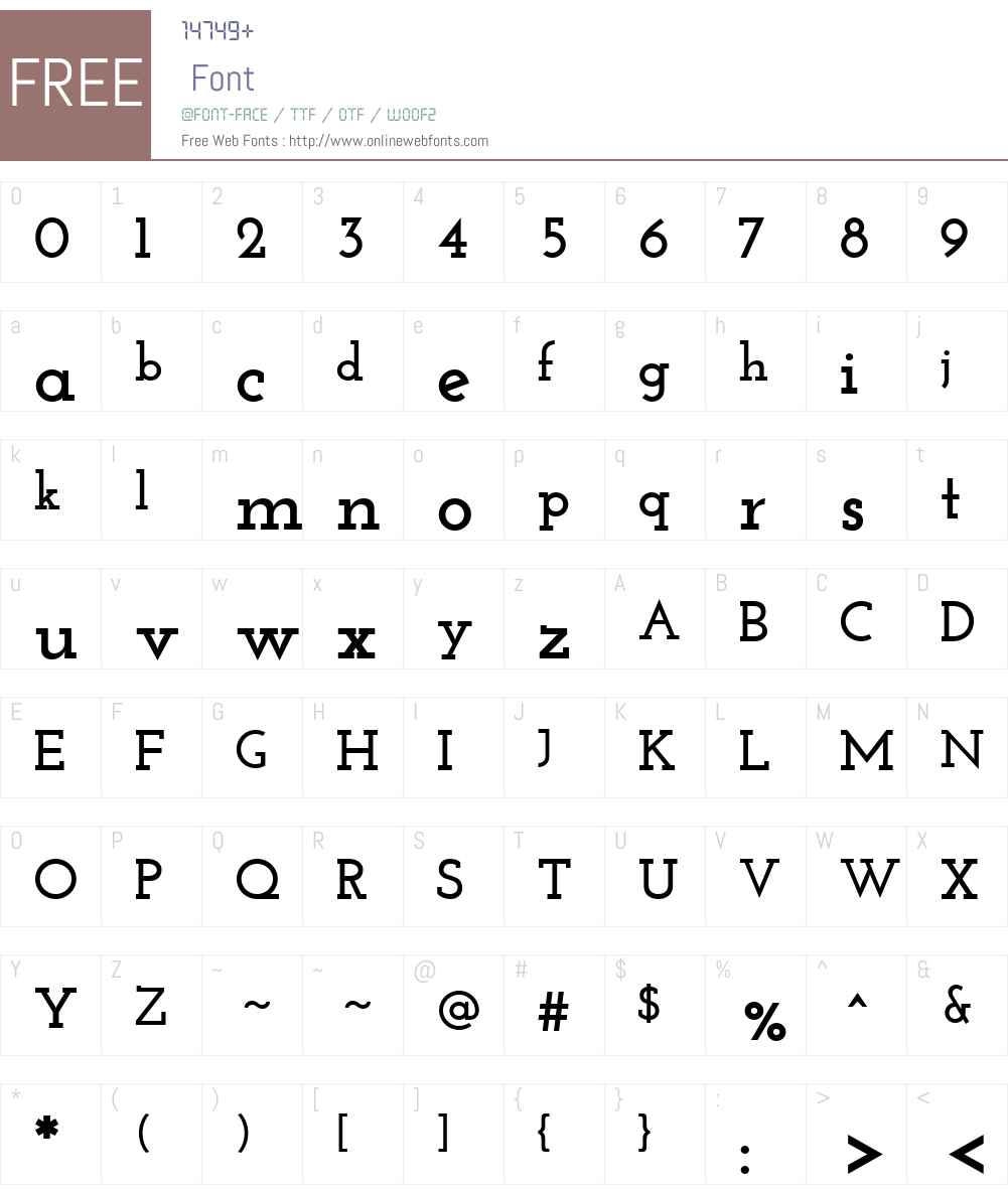 Josefin Slab Font Screenshots