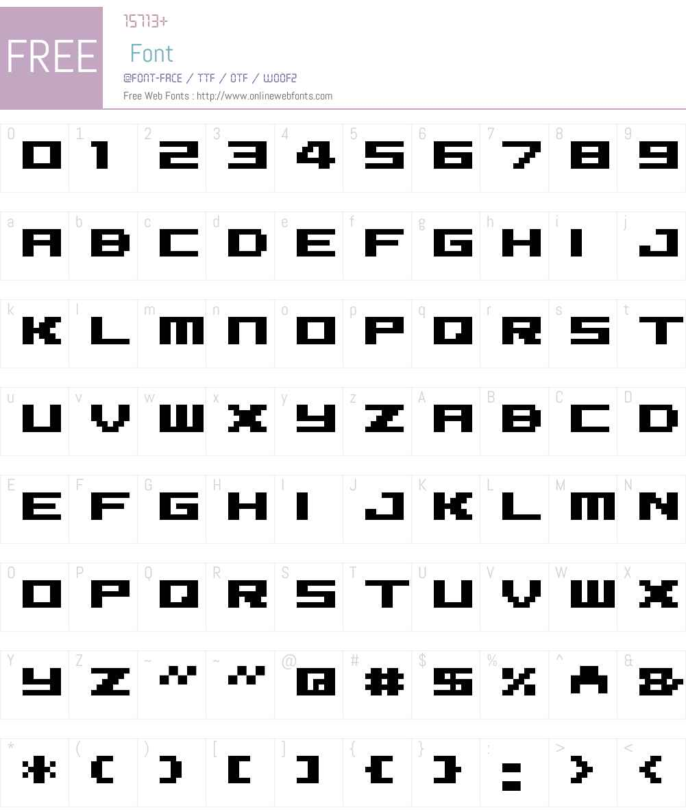 04b Font Screenshots
