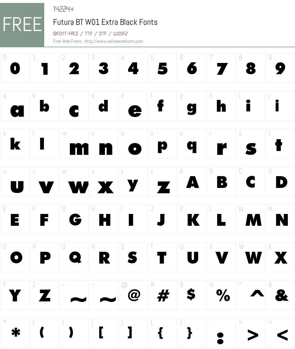 FuturaBTW01-ExtraBlack Font Screenshots