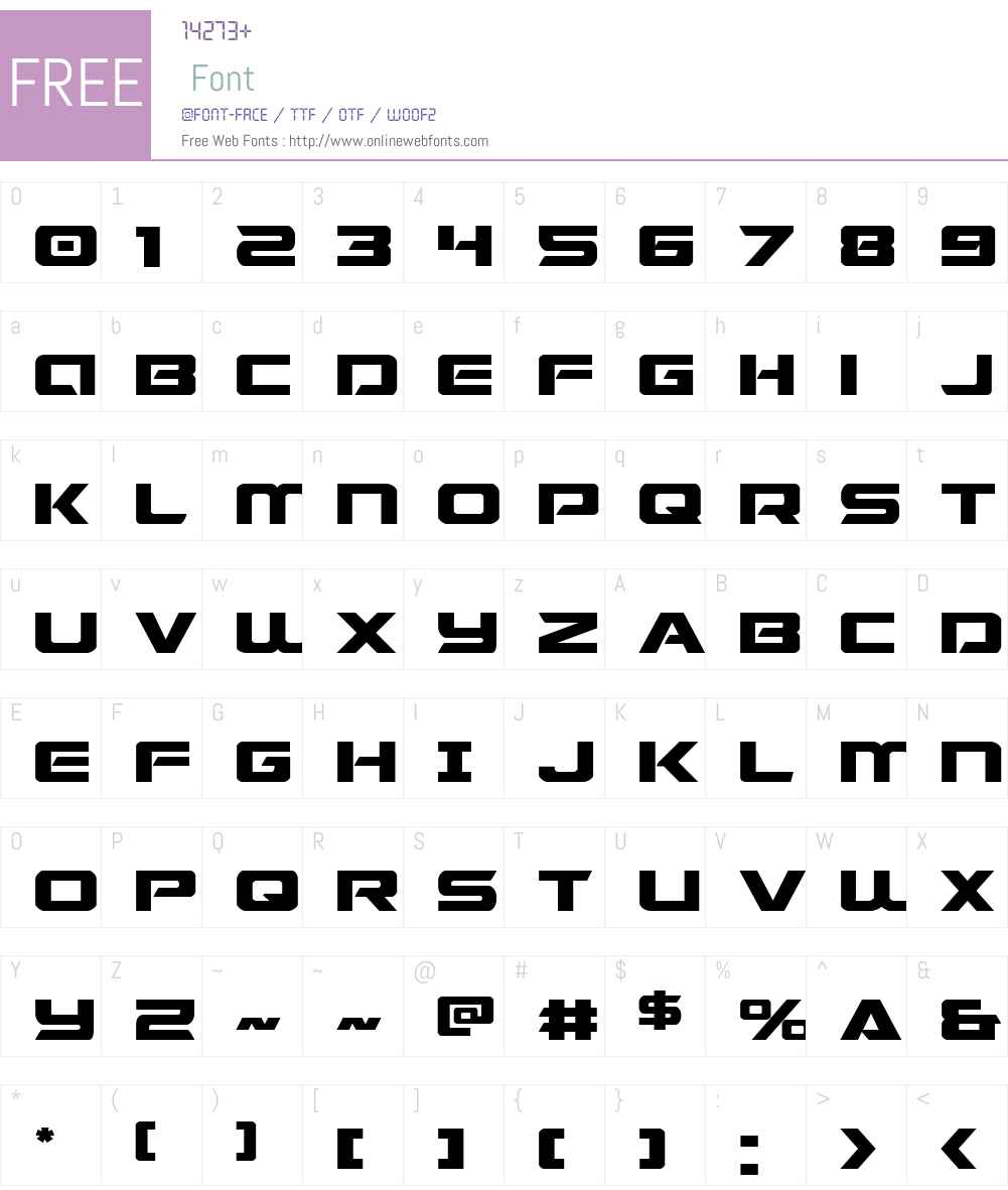 Starduster Expanded Font Screenshots