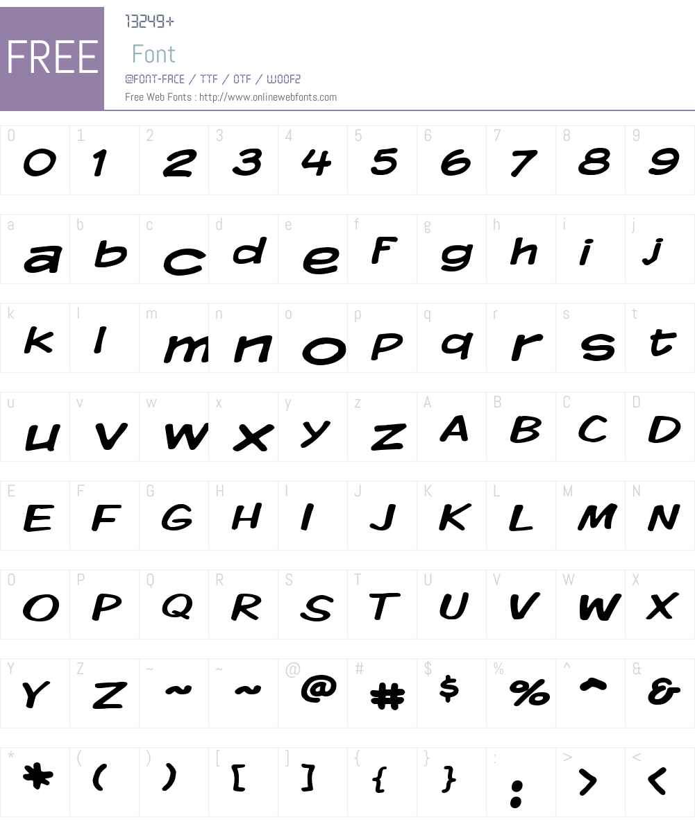 Komika Display Wide Font Screenshots