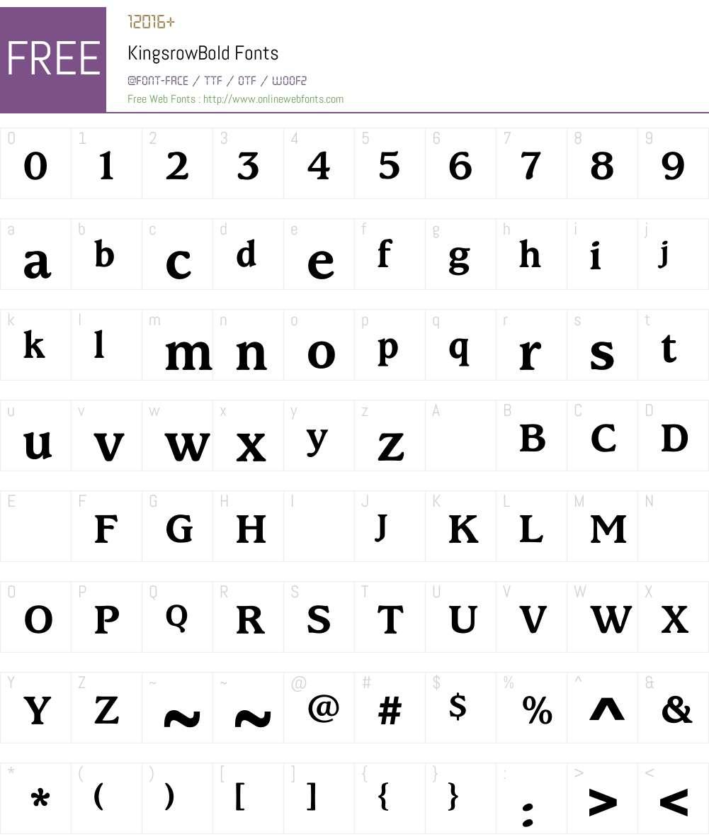 KingsrowBold Font Screenshots