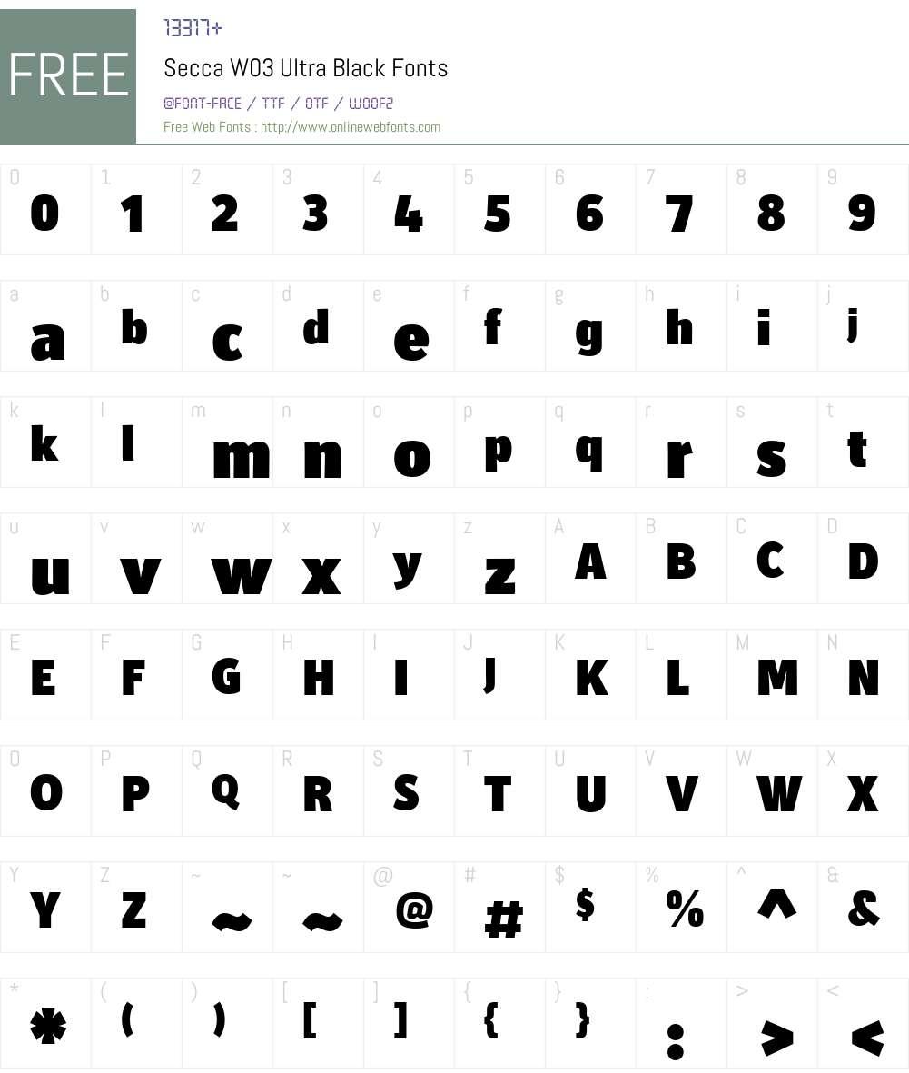 Secca Font Screenshots