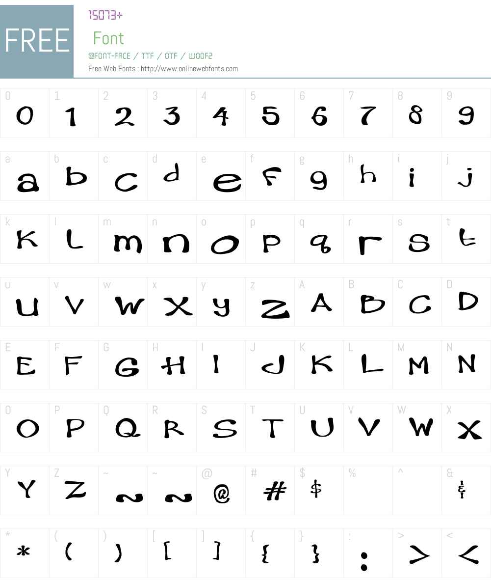 Hambone Font Screenshots