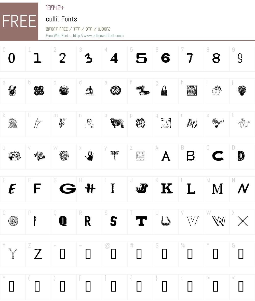 cullit Font Screenshots