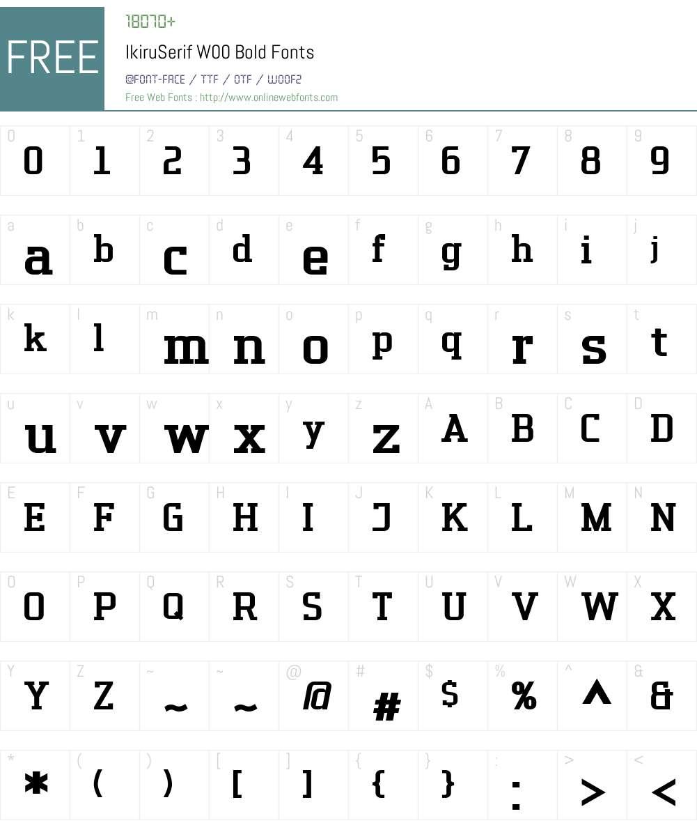 Ikiru Serif Font Screenshots