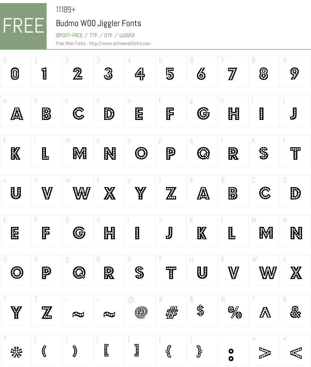 BudmoW00-Jiggler Font Screenshots