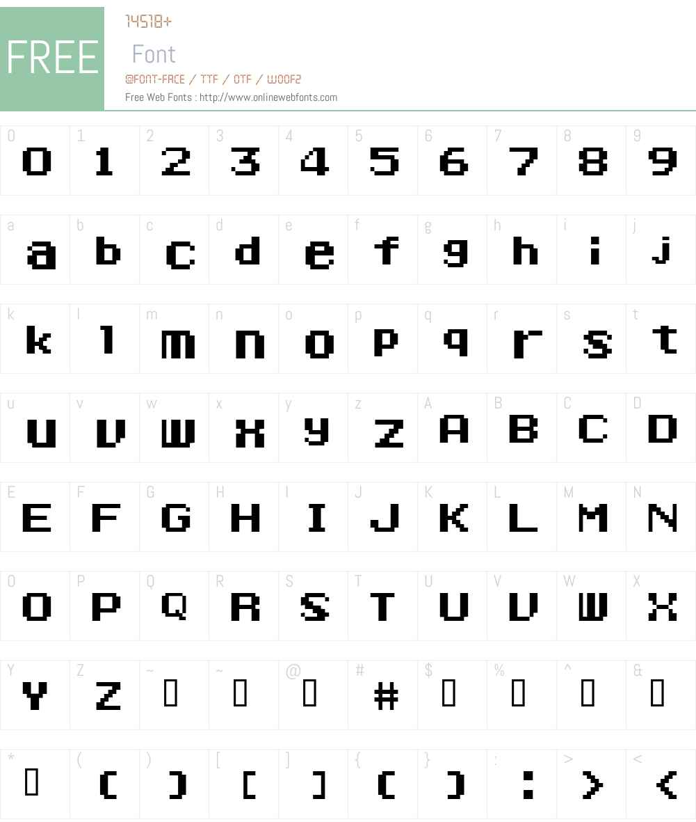 Ponderosa Font Screenshots