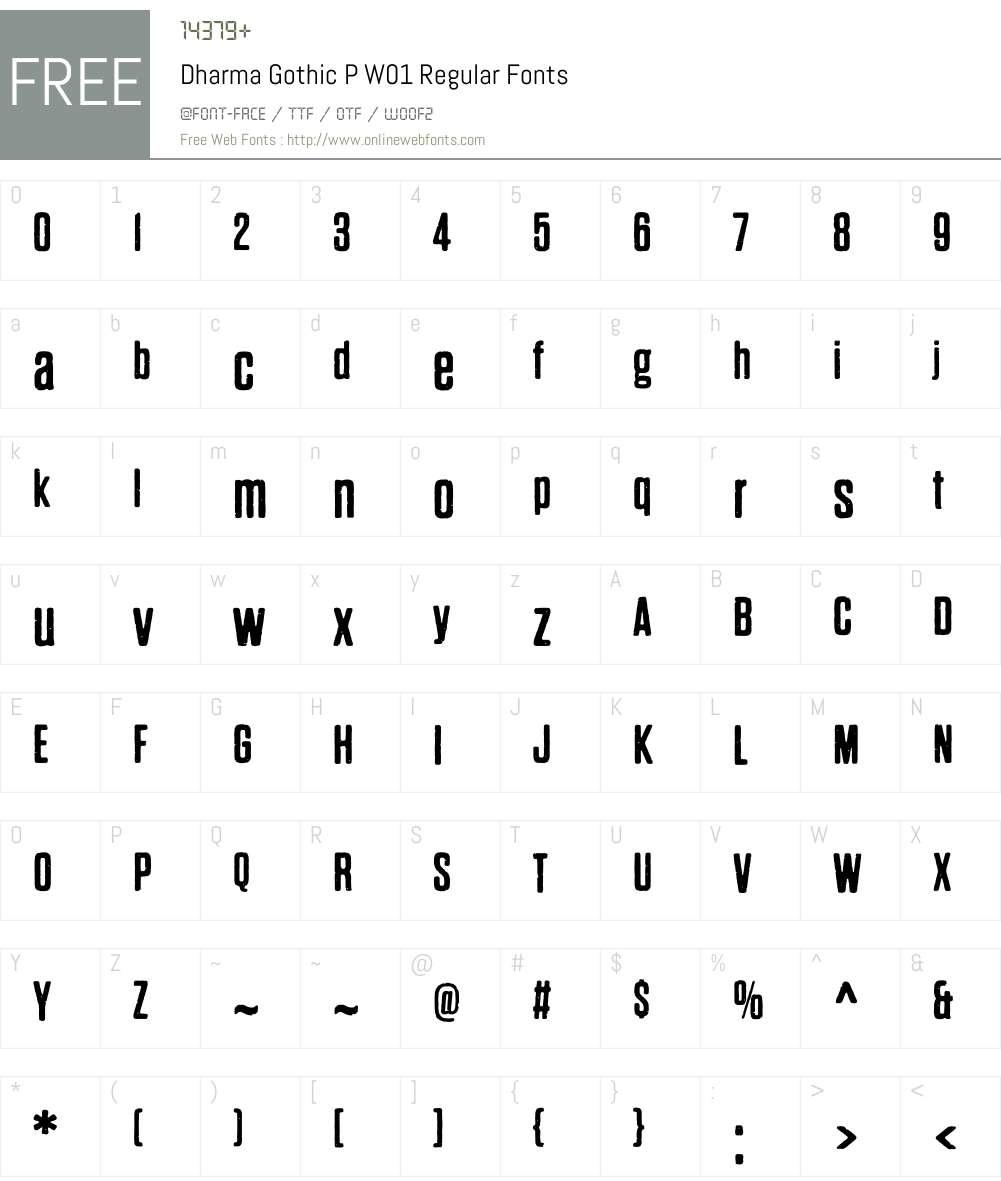DharmaGothicPW01-Regular Font Screenshots