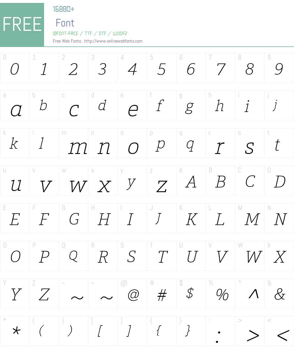 Calanda Font Screenshots