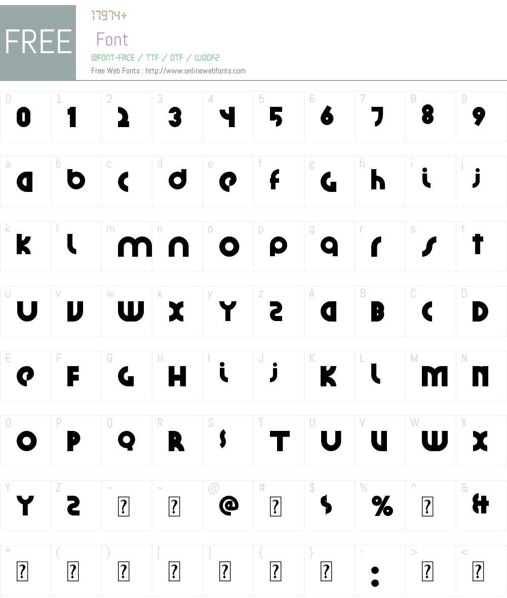 Santiako Font Screenshots