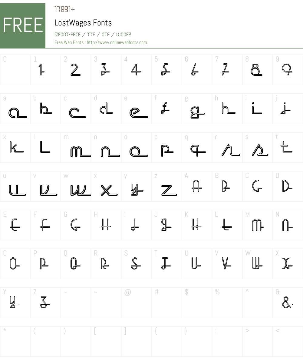 LostWages Font Screenshots