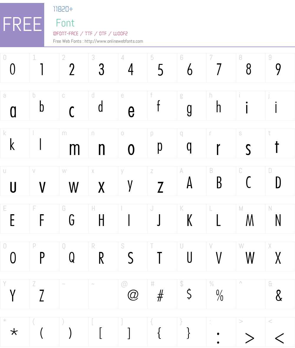 Belmar-CondensedLight-Thin Font Screenshots