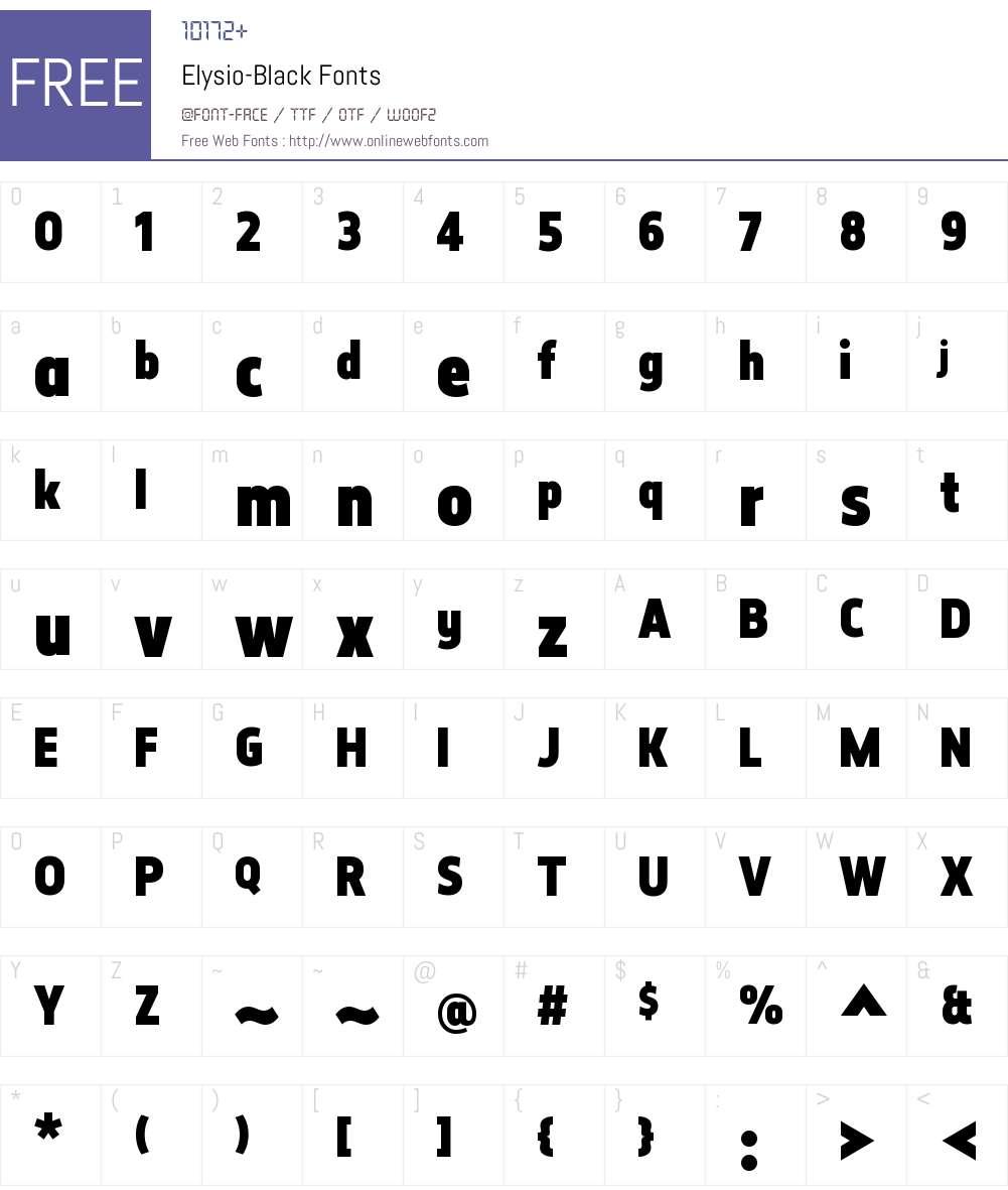 Elysio Black Font Screenshots