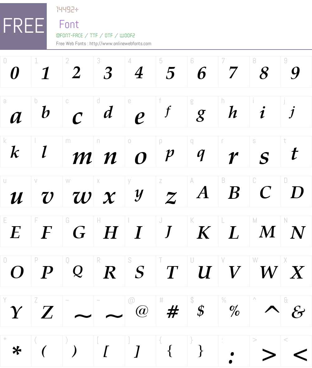 ZapfCalligr BT Font Screenshots