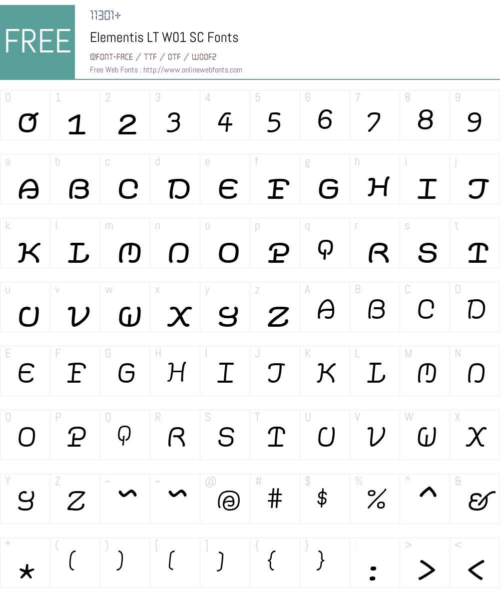 ElementisLTW01-SC Font Screenshots