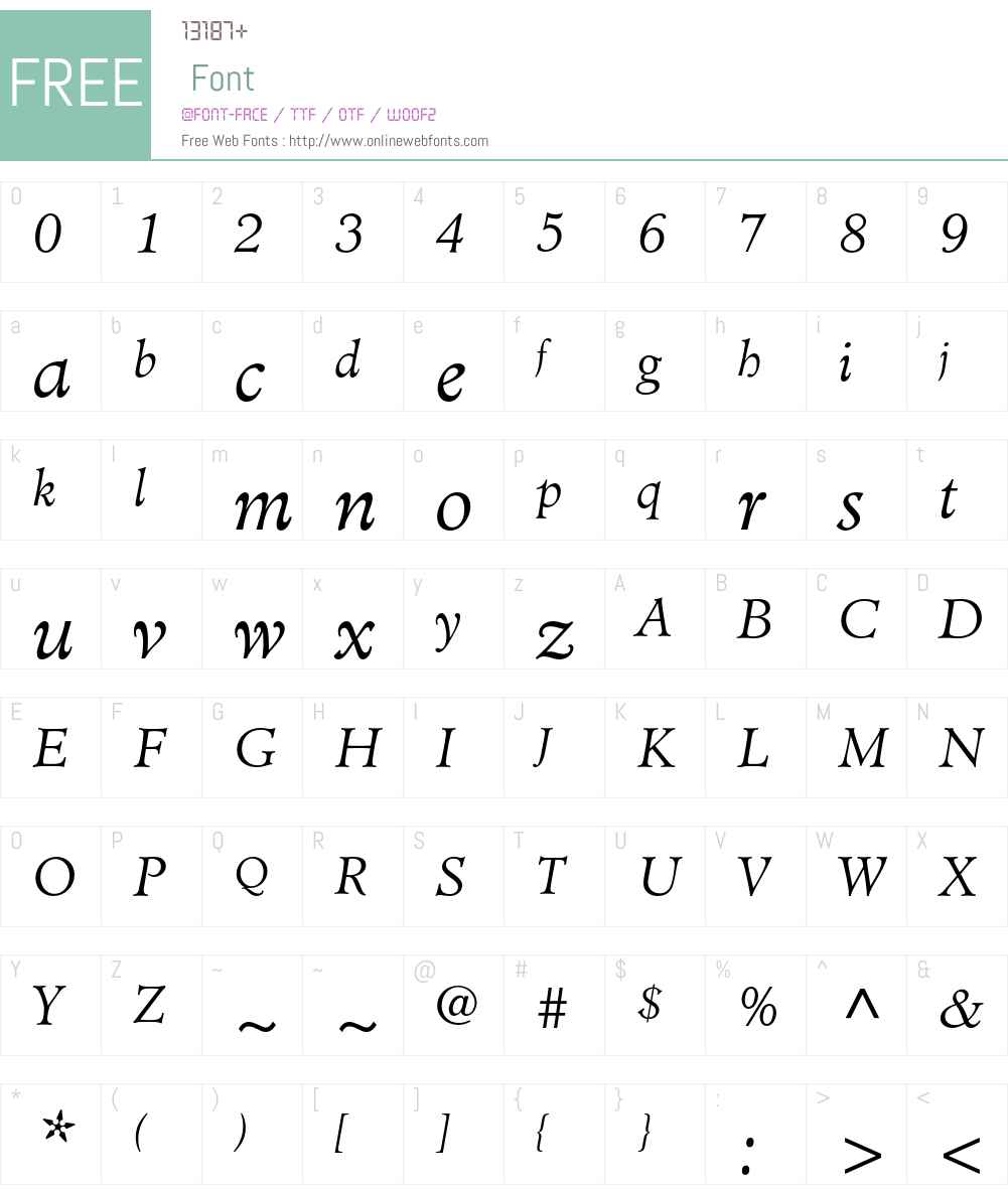 Minister Std Font Screenshots