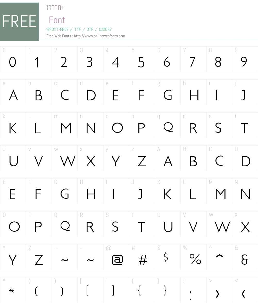 Boysen Font Screenshots