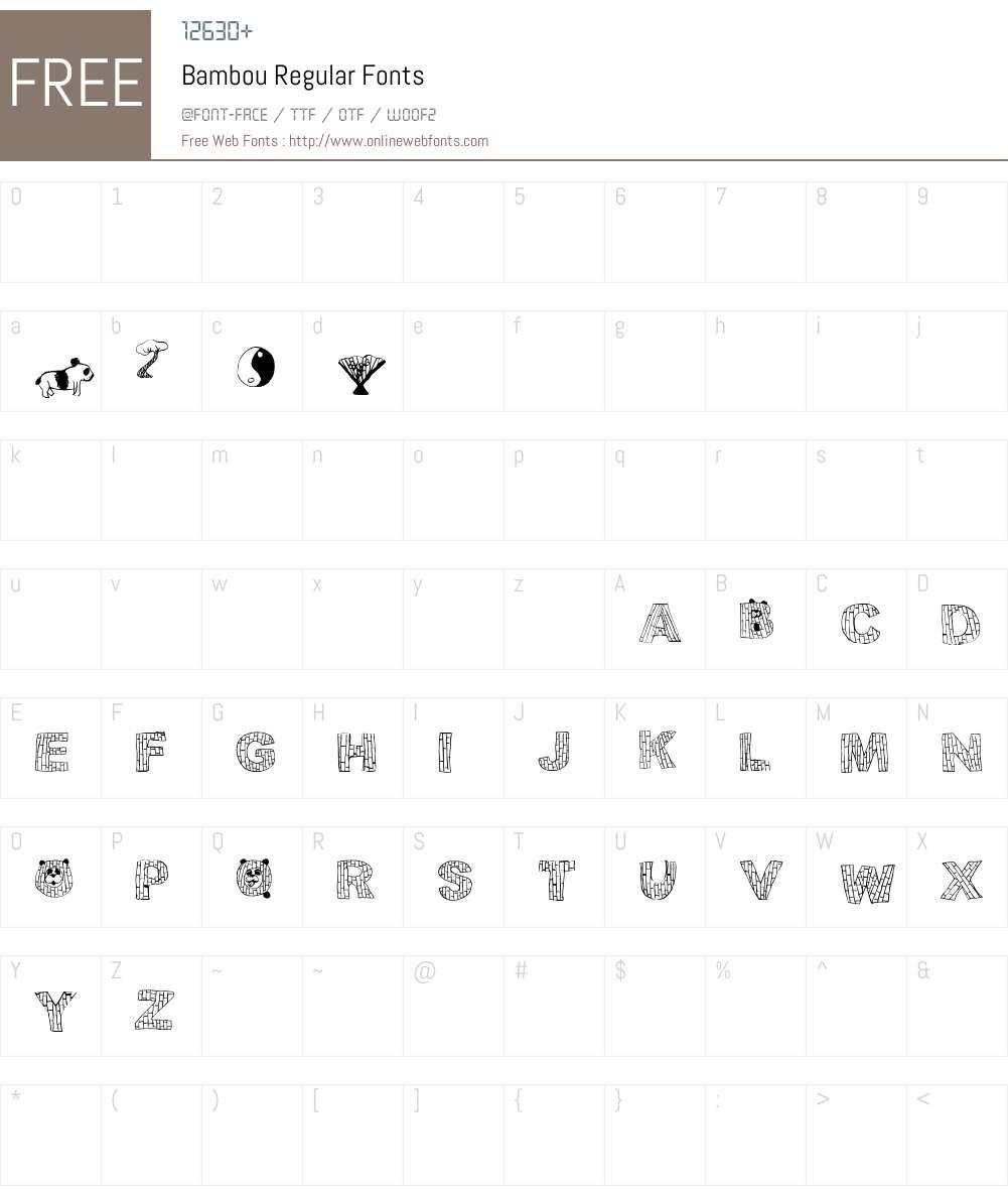 Bambou Font Screenshots
