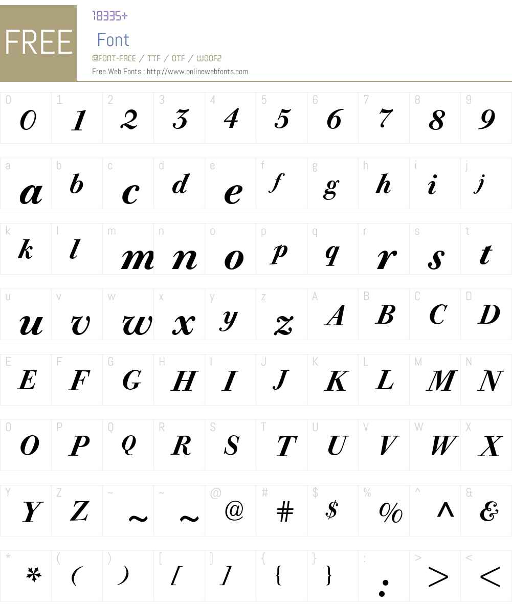 Bodoni Old Face BE Font Screenshots