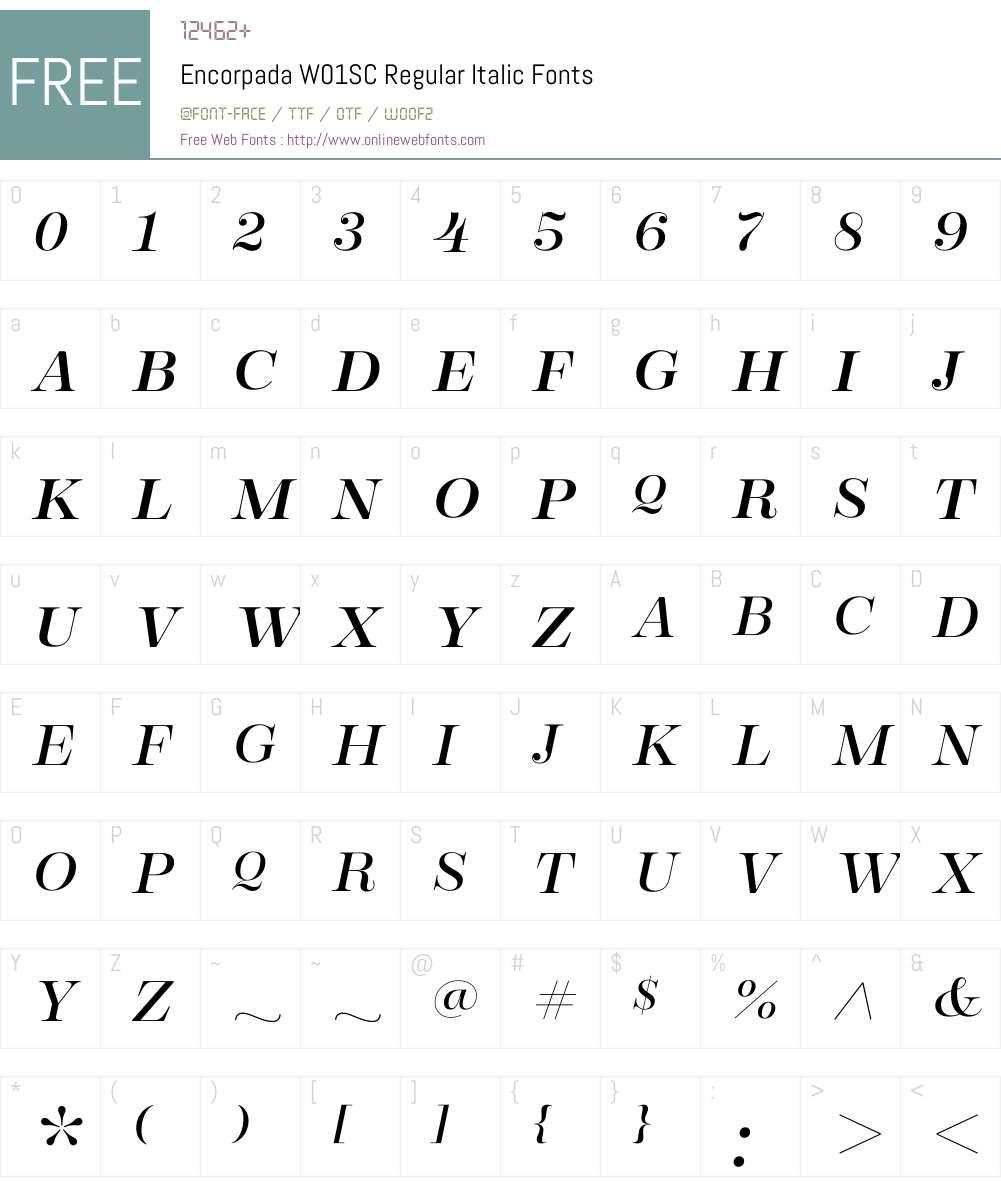 EncorpadaW01SC-RegularIt Font Screenshots