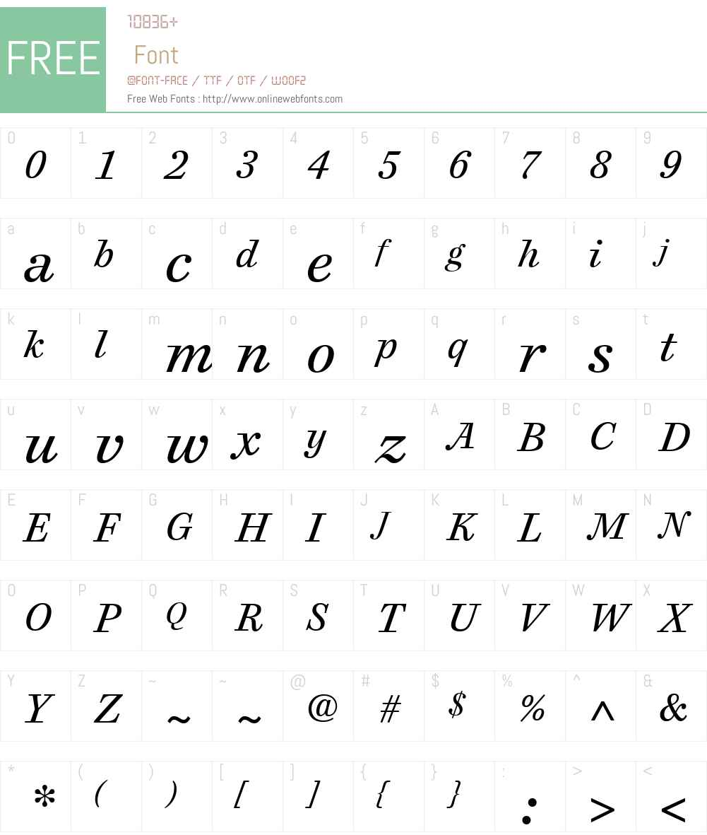 Cosmiqua Font Screenshots