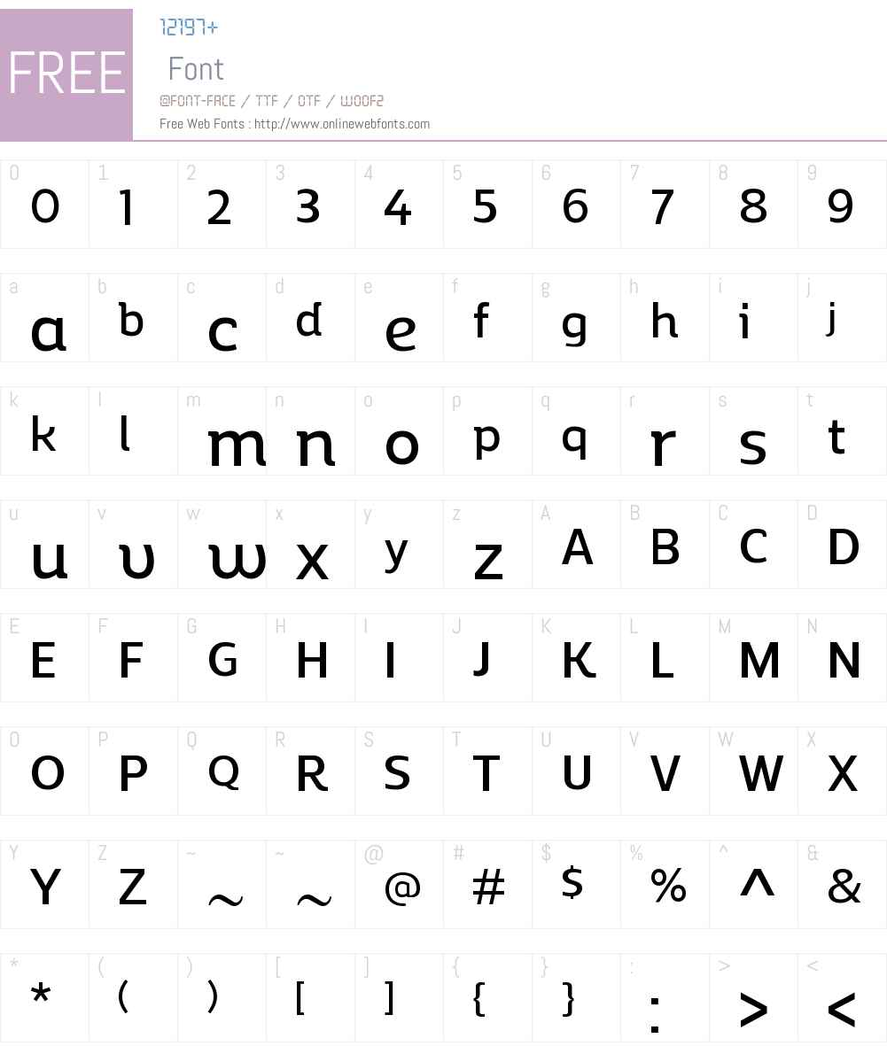 ReganAltW00-DemiBold Font Screenshots