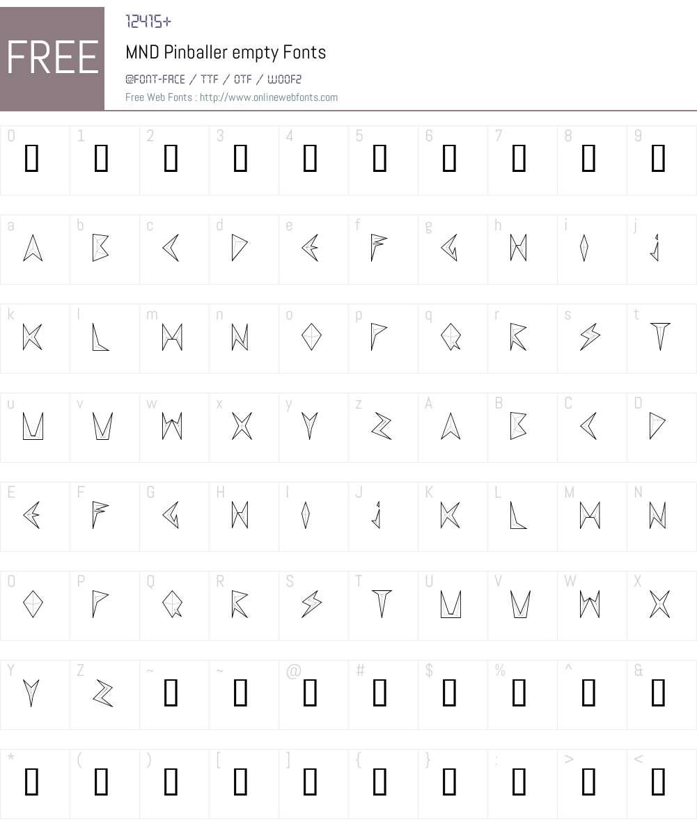 MND Pinballer empty Font Screenshots