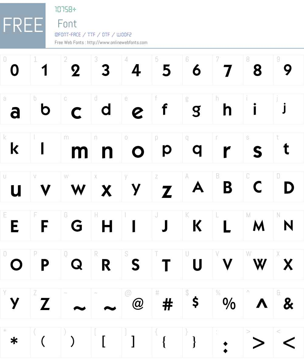 Kabel ITC BQ Font Screenshots