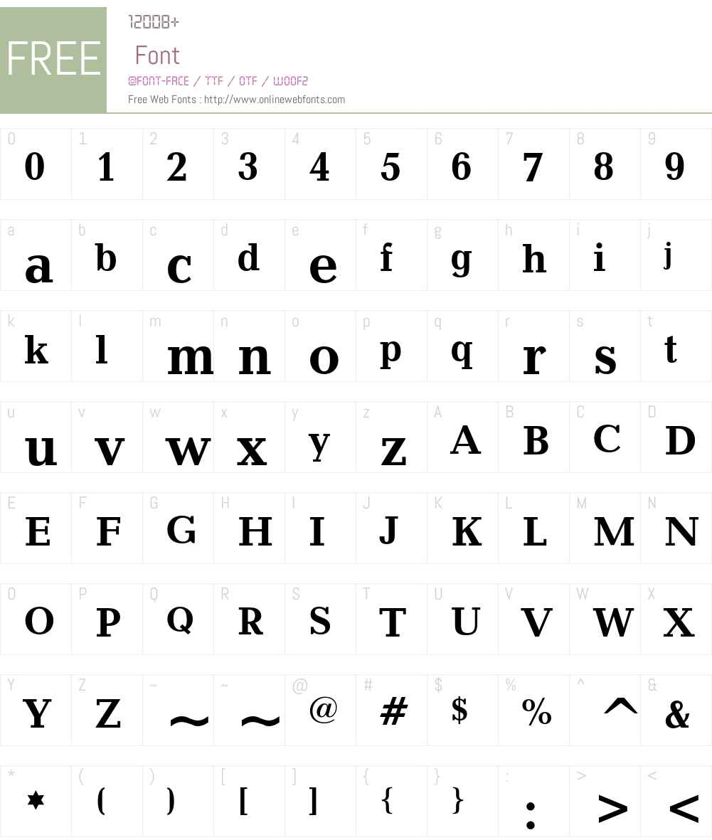 Candida Font Screenshots