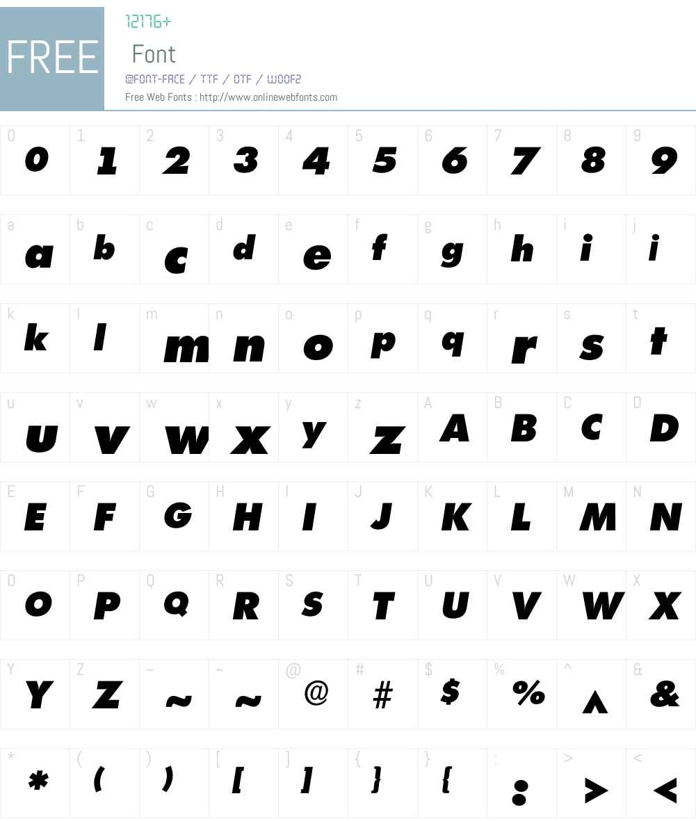 Ilimerick Font Screenshots