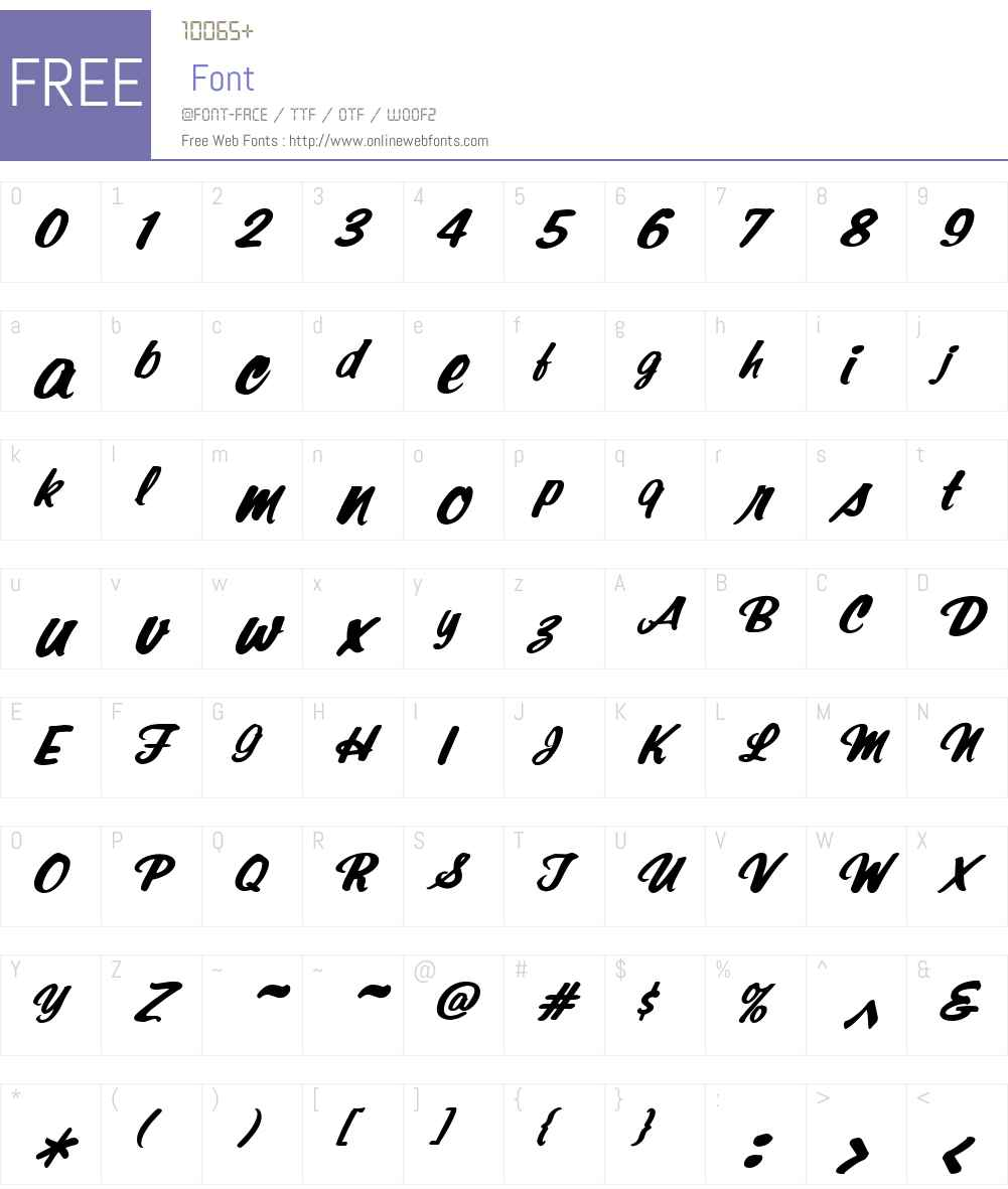 SantaFeW01-BoldItalic Font Screenshots