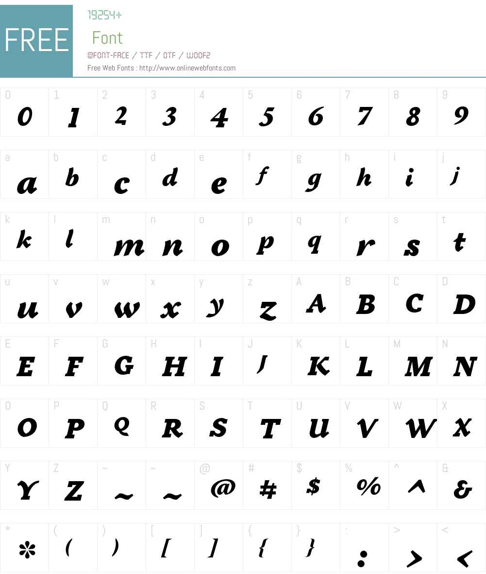 Tactile ITC Std Font Screenshots