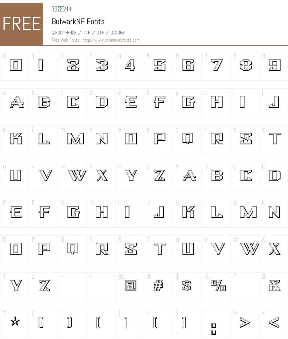 Bulwark NF Font Screenshots