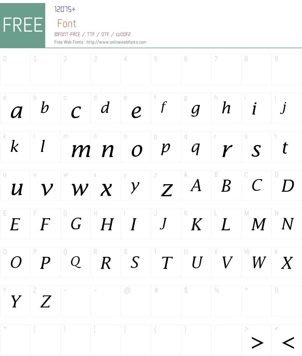 Lucida Math Font Screenshots